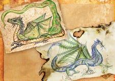 Dragões chineses antigos ilustração stock