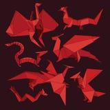 Dragões do origâmi Imagens de Stock
