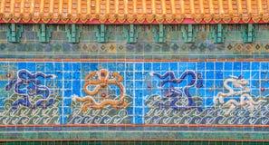 Dragões na parede Fotografia de Stock Royalty Free