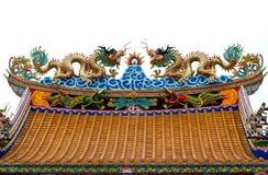 Dragões no telhado Fotografia de Stock Royalty Free