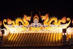 Dragões no telhado Imagens de Stock Royalty Free
