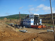 Drag. Floating factory on mining operations Royalty Free Stock Photography