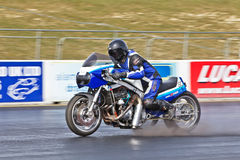 Drag bike racer Royalty Free Stock Images