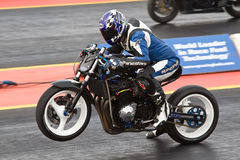 Drag bike wheelie Royalty Free Stock Images