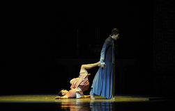 Drag the body away-The third act of dance drama-Shawan events of the past Stock Images
