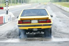 Drag car. Picture of the mustang at the drag race royalty free stock images