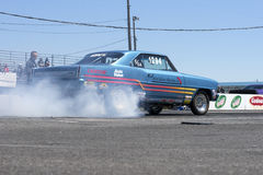 Drag car burnout Royalty Free Stock Images