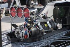 Drag car engine Stock Photos