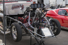 Drag car engine Royalty Free Stock Images