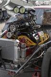 Drag car motor Stock Photo