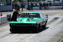 Drag car preparation Royalty Free Stock Images