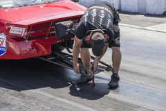 Drag car preparation Royalty Free Stock Photo