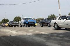 Drag car row Stock Photos
