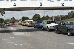Drag car row Stock Images