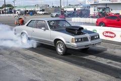 Drag car smoke show stock images
