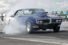 Drag car smoke show Royalty Free Stock Photos