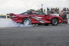 Drag car smoke show Stock Photography