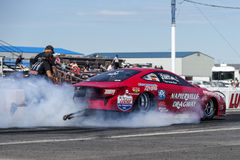 Drag car smoke show Royalty Free Stock Photography