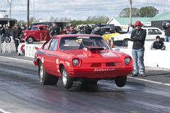 Drag car start Royalty Free Stock Image
