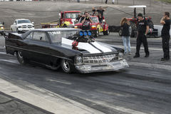 Drag car at the starting line Stock Image