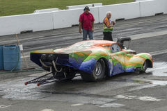 Drag car at the starting line Stock Photography