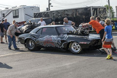 Drag car team Stock Photography