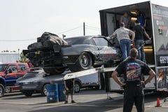 Drag car team Royalty Free Stock Image