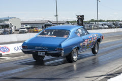 Drag car wheelie Royalty Free Stock Images