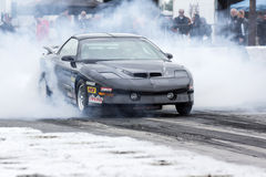 Drag car winner Stock Photography