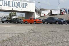 Drag cars line up Stock Photos