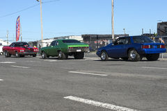 Drag cars. Picture of different drag car during car show Royalty Free Stock Photos