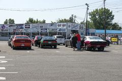 Drag competitors Royalty Free Stock Photos