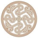 Drag?n decorativo antiguo en el ejemplo de estilo celta, escandinavo del nudo-trabajo libre illustration