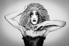 Drag queen affascinante immagine stock libera da diritti