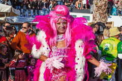 Drag Queen as a Passista in the Brazilian Carnaval Royalty Free Stock Photography