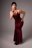Drag queen blowing kiss. Royalty Free Stock Photo