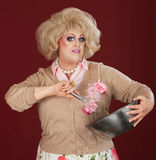 Drag Queen With Bowl and Whisk Stock Image