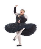 Drag queen dancing in a tutu Royalty Free Stock Image