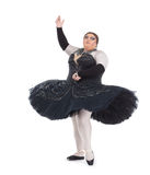 Drag queen dancing in a tutu Royalty Free Stock Images