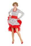 Drag queen del ritratto nell'esecuzione del vestito dalla donna Immagine Stock Libera da Diritti
