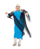 Drag queen dressed as a female singer Royalty Free Stock Photo