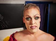 Drag Queen in Dressing Room Stock Image