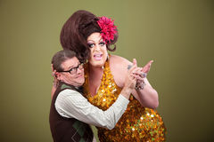 Drag Queen Holding Nerd Royalty Free Stock Image