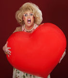 Drag Queen With Huge Balloon Stock Images