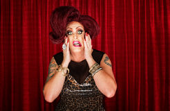 Drag queen incerto Fotografia Stock