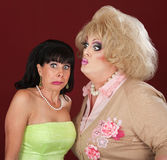 Drag Queen Kisses A Woman Royalty Free Stock Photography