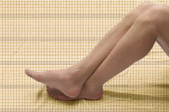 Drag Queen Legs. With stocking on textured background Stock Images