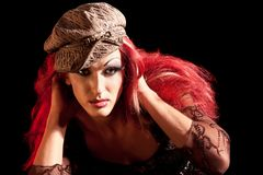 Drag-Queen. Man dressed as Woman. Royalty Free Stock Image