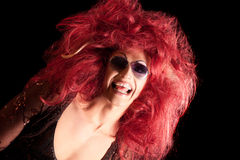 Drag-Queen. Man dressed as Woman. Royalty Free Stock Photography