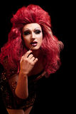 Drag-Queen. Man dressed as Woman. Royalty Free Stock Photo